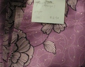 Purple synthetic satin fabric