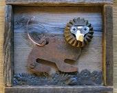 crouching lion sculpture