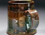 BLACK FRIDAY SALE Beautiful Green Brown Stoneware Mug