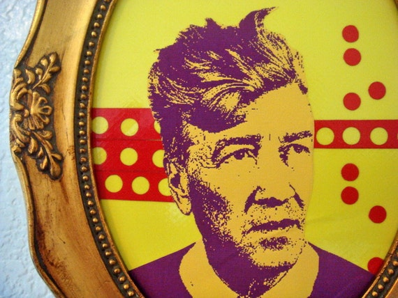 SALE - 50% off - david lynch and the tiny red dots, framed original