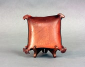 Great gift for men sculpted leather bowl No.2499 - pennyhall