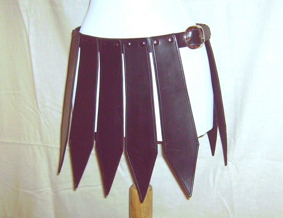 battle skirt leather armor basic