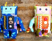 Robot Sewing Pattern boy soft toy outer space play