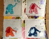 Four Seasons Elephant Applique Pillow Pattern