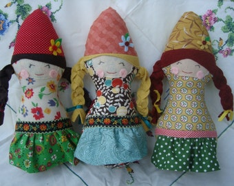Gnome Doll with braids Download Pattern Now!