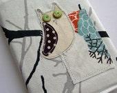 Fabric Applique Retro Owl 2012 A6 Diary