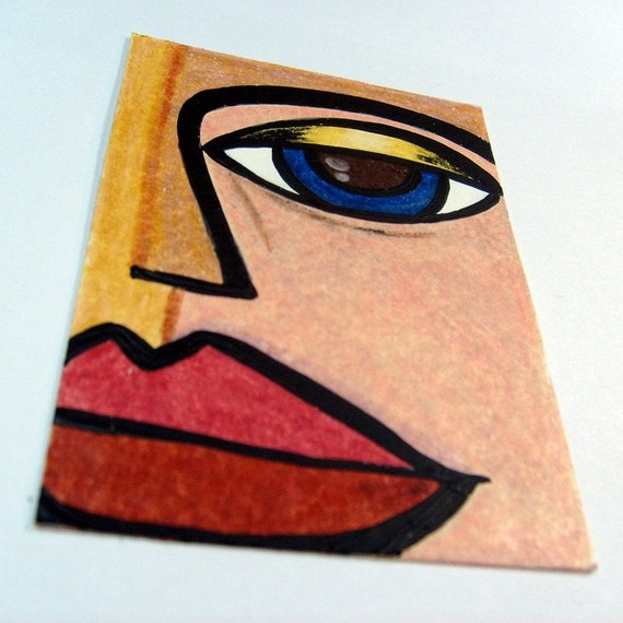 Modern art atc artist trading card aceo art card by donnadidit for Passarelli custom homes