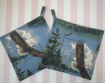 American Bald Eagle  Potholders