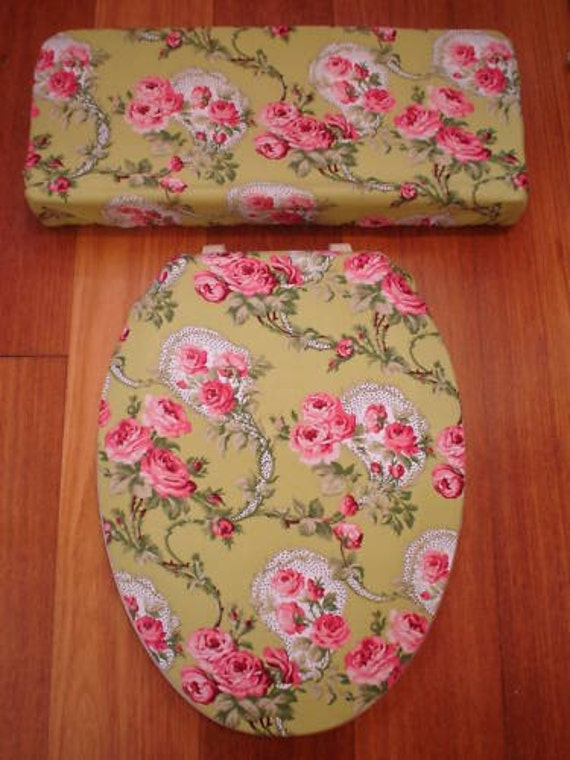 Country Victorian Roses Toilet Seat Cover