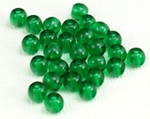 4mm Czech Glass Druk Beads, Emerald Green, 200 beads, cg182