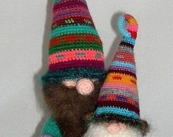 Roonmut Cobbfoodle and Pilrick Nacklewocket  GNOMES Crochet Pattern PDF