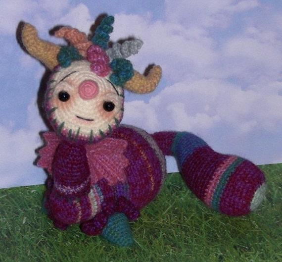 Dragon crochet pattern PDF Merwinkle Snorkbottle the Dragon Creature Monster