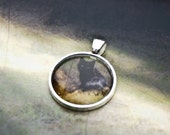 Black Cat Photo Jewelry - Bewitched - mysterious and cute black cat photo pendant set in round silver colored metal