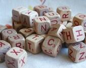 Set of 20 1970's Vintage Scrabble Cubes