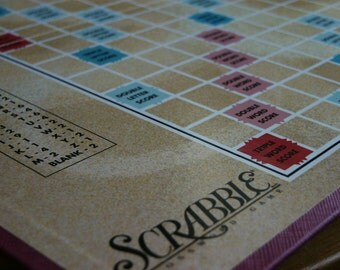 Scrabble Board- Wedding; Decor; Craft Project; Gift