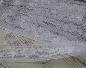 Vintage White Lace- 2+ Yards