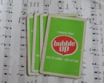 Vintage Bubble Up Playing Cards- Set of 8