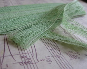 Vintage Nile Green Lace- 3 Yard3