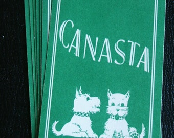 Vintage Canasta Playing Cards--Set of 10