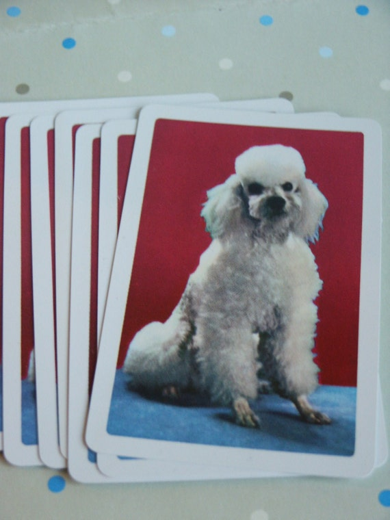 Vintage Poodle Playing Cards--Set of 10