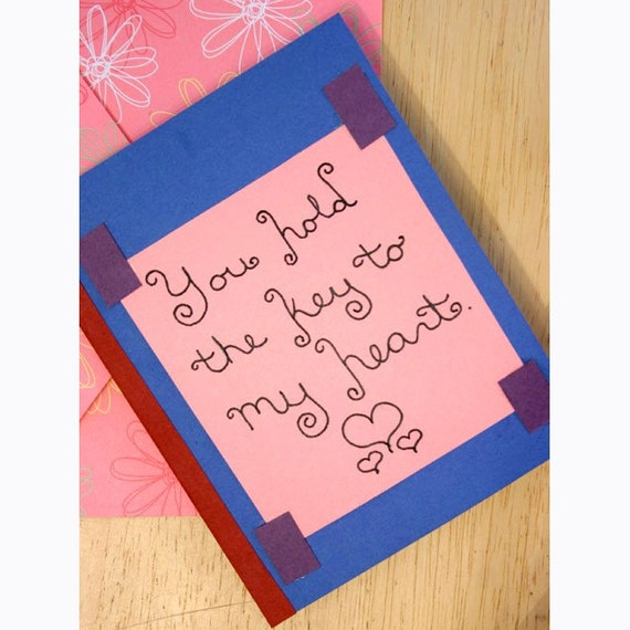 MATURE Cunnilingus Key to My Heart Card (ON SALE)