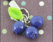 Blueberry Trio Charm or Stud Earrings (Made to Order)