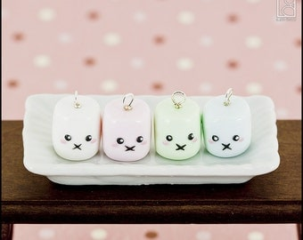 Marshmallow-chan Charm or Earrings (Made to Order)