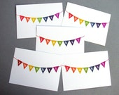 Rainbow Bunting Thanks Bundle -- Gocco Greeting Cards Set