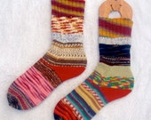 Crazy Socks  - ladies womens wool socks - large