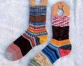 CUSTOM ORDER for Julie - Crazy Socks - ladies 10""