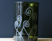 Recycled Bottle Drinking Glasses - Fiddlehead