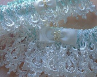 Bride Garter Set in Wedding  Venice Lace