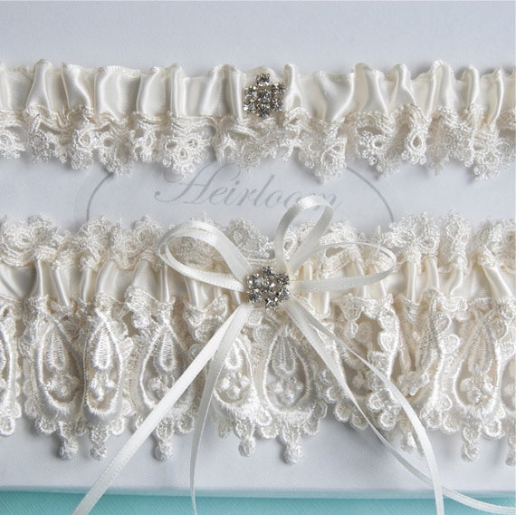 Wedding Garter Set Lingerie Garters Bridal By GartersByGarterLady