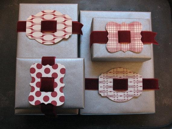Red Polka Dot Letterpress Buckle with Velvet Ribon