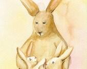 The Boys- Rabbit Art, nursery, children