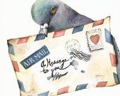 Messenger- pigeon art