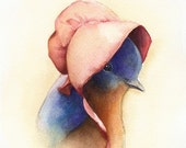 Baby Blue- Bluebird, nursery art