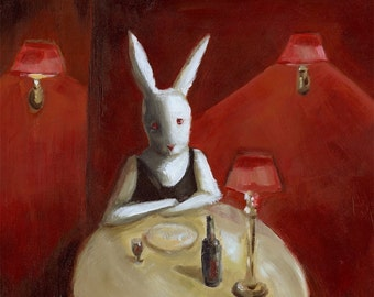 "White Rabbit -""Stood Up""- Archival Print"