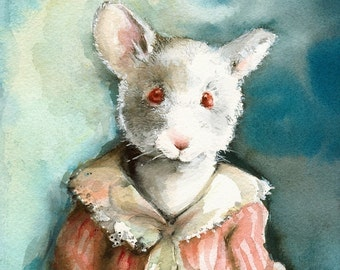 Miss Elsie-mouse archival print, nursery, room, decor, children