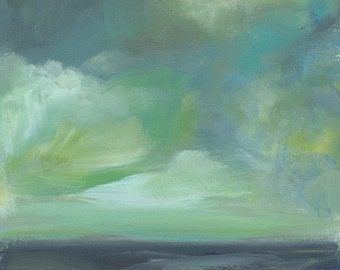 """beach home, beach house decor, coastal, cottage, """"Sea in Blue and Green"""" Archival Print, art, landscape, abstract, art"""