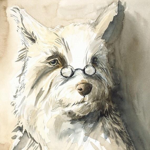 Paul- Dog Art, terrier, men, dog lover