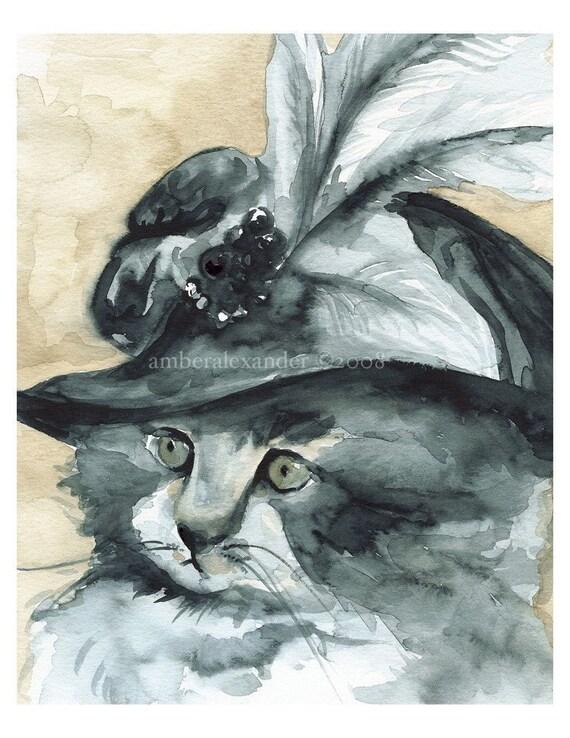 Dear Heart- Cat Art
