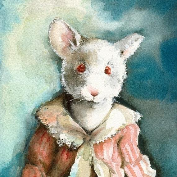 Miss Elsie-mouse archival print, nursery, room, decor, children