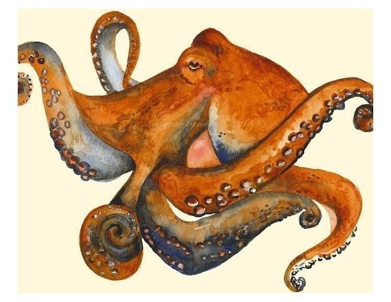 Octo - Octopus Art, nautical, ocean decor