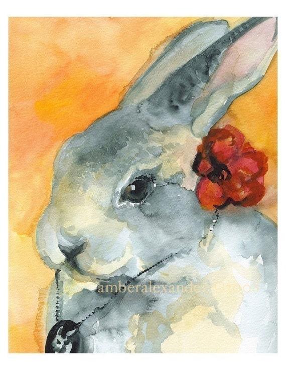 Senorita Betty- Rabbit Art
