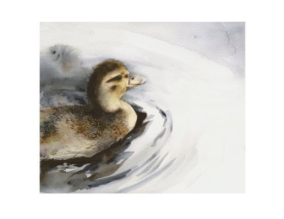 Duckling in the Water-Archival Print