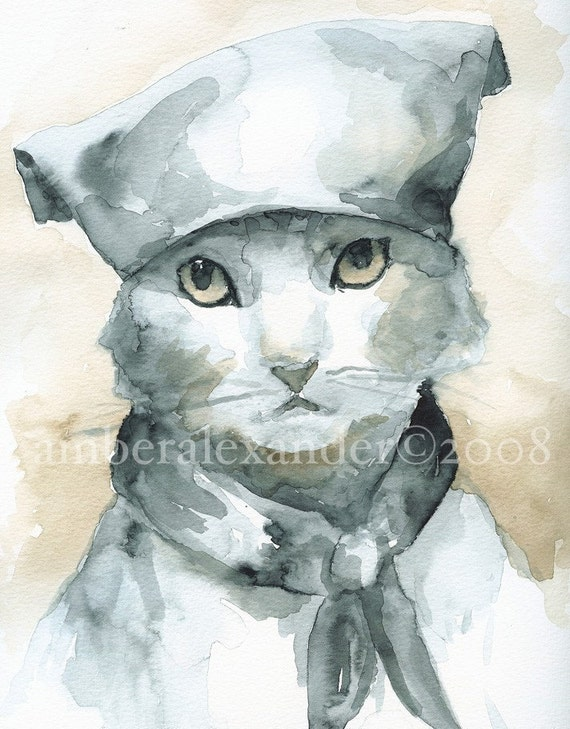 Les Mews- French Revolution Kitty - Print