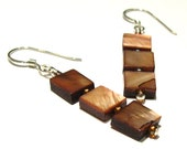 STACKED Earrings (Brown)