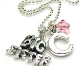BIG SISTER Totally Charming INITIAL Necklace