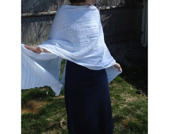 Sensory Shawl White - Play to Discover - one of a kind for spring and summer Fabric will protect you from the Sun